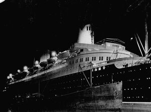 The North German Lloyd liner Bremen, which arrived in New York with 1600 passengers