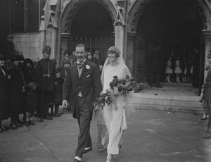 Notable wedding. The weding took place at St Margaret ' s, Westminster, of Major