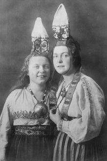 Novel Wedding Finery Two Esthonian Brides who were married at a village near Reval