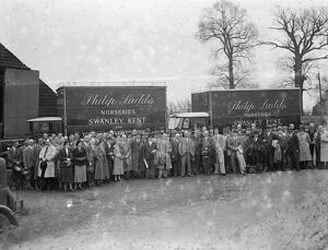 Nursery congress at Phillip Ladd 's Nursery on Goldsel Road in Swanley, Kent. 1936