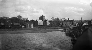 Old Shoreham - by - Sea seen from the old toll bridge over the river Adur. 1931