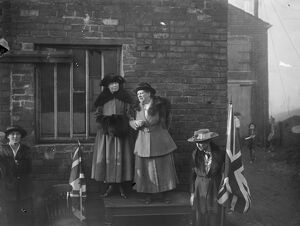 Opening of Miss Christabel Pankhurst 's campaign at Smethwick, Staffordshire 28