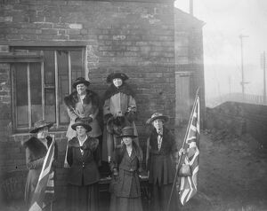 Opening of Miss Christabel Pankhurst's campaign at Smethwick, Staffordshire Mrs