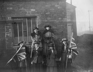 Opening of Miss Christabel Pankhursts campaign at Smethwick, Staffordshire 28 November