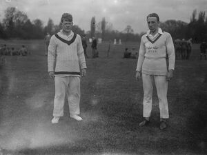 Oxford University Cricket Club Practice Left is M Patten and right is B H Lyon