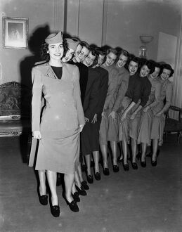Six pairs of identifical twins, over here from America on a campaign to advertise