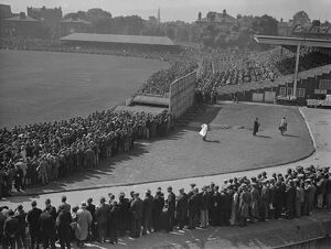 A panoramic view of the Oval during the 1930 test match 16 August 1930 History