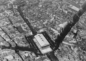 Paris seen from the air. Showing the Madelaine Church. 2 November 1928