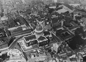 Paris as seen from the air. Showing the Pantheon. 1 November 1928