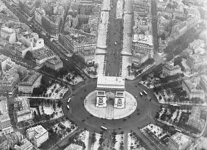 Paris as seen from the air. Showing the Place de L'Etoile. 2 November 1928