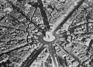 Paris as seen from the air. Showing the Place de L'etoile. 1 November 1928