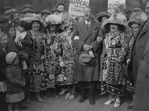 Pearly kings and queens protest against Sunday street trading ban at Lambeth