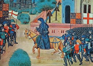 The Peasants Revolt 1381. John Ball, the 'mad priest of Kent' preaching