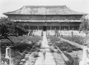 Now in Peril of capture. Nanking the sacrificial hall at the Mausoleum of the