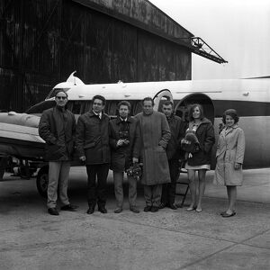 Pictured at Biggin Hill id the team of five men and one girl, a 20 year old secretary