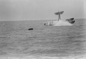 Plane dives into the sea : an amazing test off Felixstowe