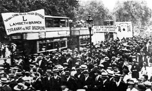Police Strike 1919 The Lambeth contingent marching to take part in the Trafalgar