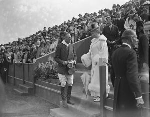 Polo at The Hurlingham Club, London - The Queen Queen presents the cup to Lord