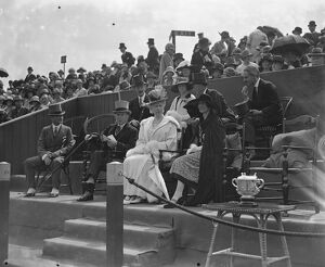Polo at The Hurlingham Club, London - The Queen with Sir Harold and Lady Snagge 1926