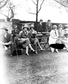 Polo at the Hurlingham Club, London - Whatcombe versus Jodphur. Miss Olive Compton