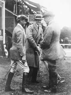 Polo at Hurlingham - Old Oxonisans versus Old Cantabs. The Prince of Wales with