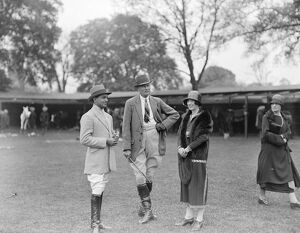 Polo at Hurlingham. Raja Hamit Singh, Colonel Keighley, Mrs McKay 18th May 1925