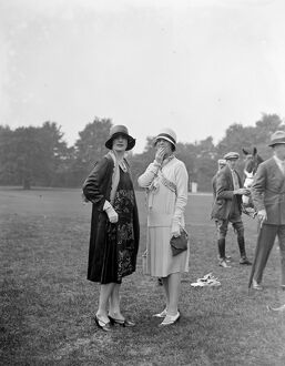 Polo at Ranelagh. Mrs Pasquero ( left ). 29 May 1928