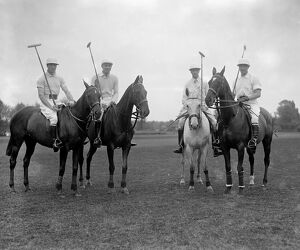 Polo at the Roehampton Club - the American team, from left to right ; GC Runsey