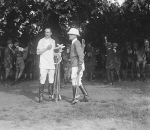 Polo at Roehampton, Early Risers The King of Spain and Colnel E D Miller