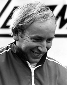 A portrait of John Surtees ex World Champion motor cyclist and F1 racing car driver