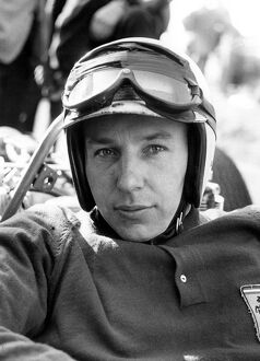A portrait of John Surtees taken earlier in the year of the reigning world motor