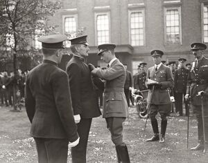 Prince Albert decorates NSPCC inspectors. R S M Thomas Henry Waldren, M C ( Royal