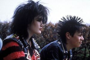 Punks 1983 - fashion, portrait, young woman, make up, punks