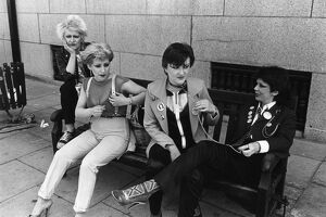 Punks photographed by Colin Jones 1980s 80s women punk social movement fashion