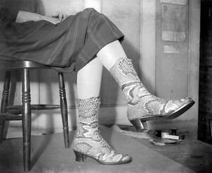 Python skin boots at Gerrett and sons. 10 September 1925