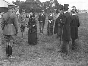 Queen Alexandra at the Royal Aircraft Factory, Farnborough, July 3rd, 1915, where