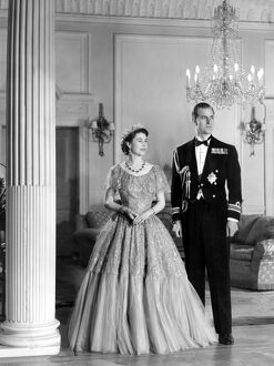 Queen Elizabeth II and Duke of Edinburgh 1952