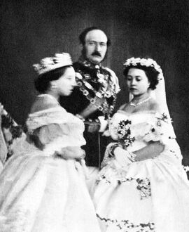 Queen Victoria, the Prince Consort, and the Princess Royal, 25 January 1858, taken