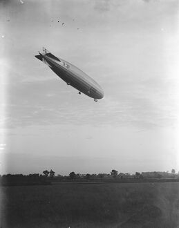The R 33 leaves her Aerodrome at Pulham, Norfolk, for a short cruise. 5 October 1925