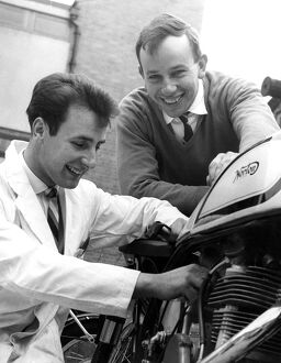 Another racer in a famous family. Norman Surtees, 21, younger brother of World