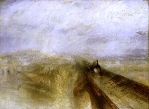 Rain, Steam and Speed - 1844 Great Western Railway by Turner National Gallery Joseph