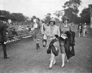 Ranelagh - Lords versus Commons. Mrs and Miss Mineschi. 23 June 1928