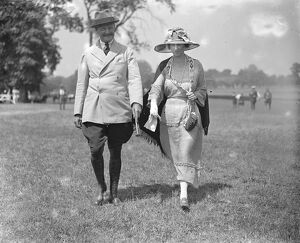 Ranelagh Polo club - Horse and Polo Show Brigadier General W F Sweney and Mrs Placket