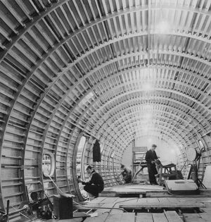 Reassembling an underground tunnel, this latest picture of the Bristol aircraft companies