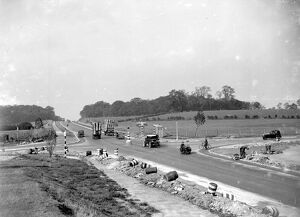 Repairs at Sidcup by pass crossing in Kent. 29 October 1934