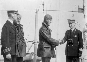 1920s/air flying machines/rescued italian airman admiral mcgruder greeting