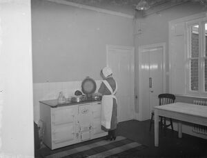 Riseley maternity home in Horton Kirby. The interior of the wards