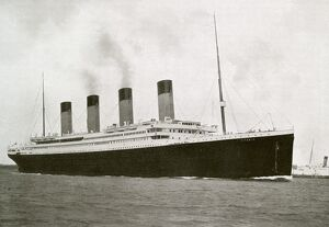 The RMS Titanic as she sailed from Southampton, England <br> 1912