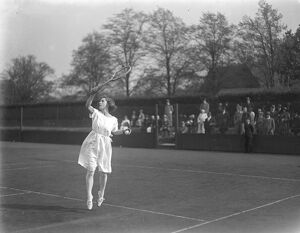 Roehampton Hard Court lawn Tennis in London Miss E Collyer playing the ladies doubles 27