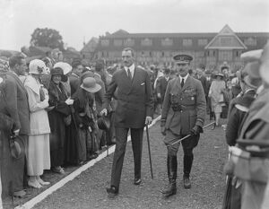 Royal air force pageant at Hendon The King of Denmark arriving 28 June 1924
